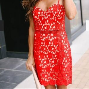 Red lace Vici dress